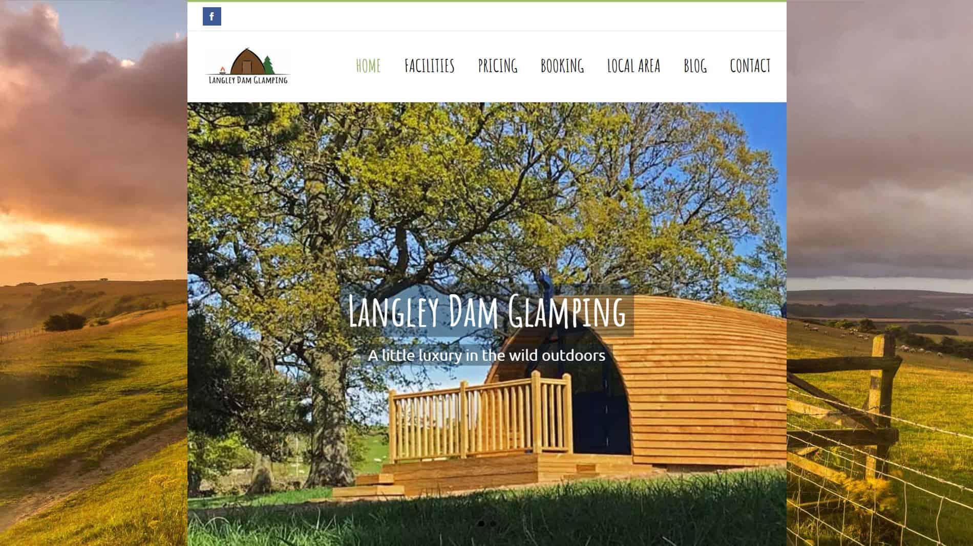 Langley Dam Glamping website