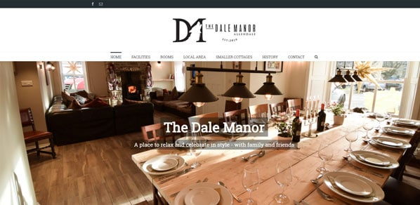 The Dale Manor Homepage designed by Boxwell Web Design