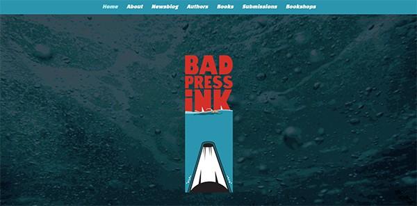 Bad Press Ink website homepage