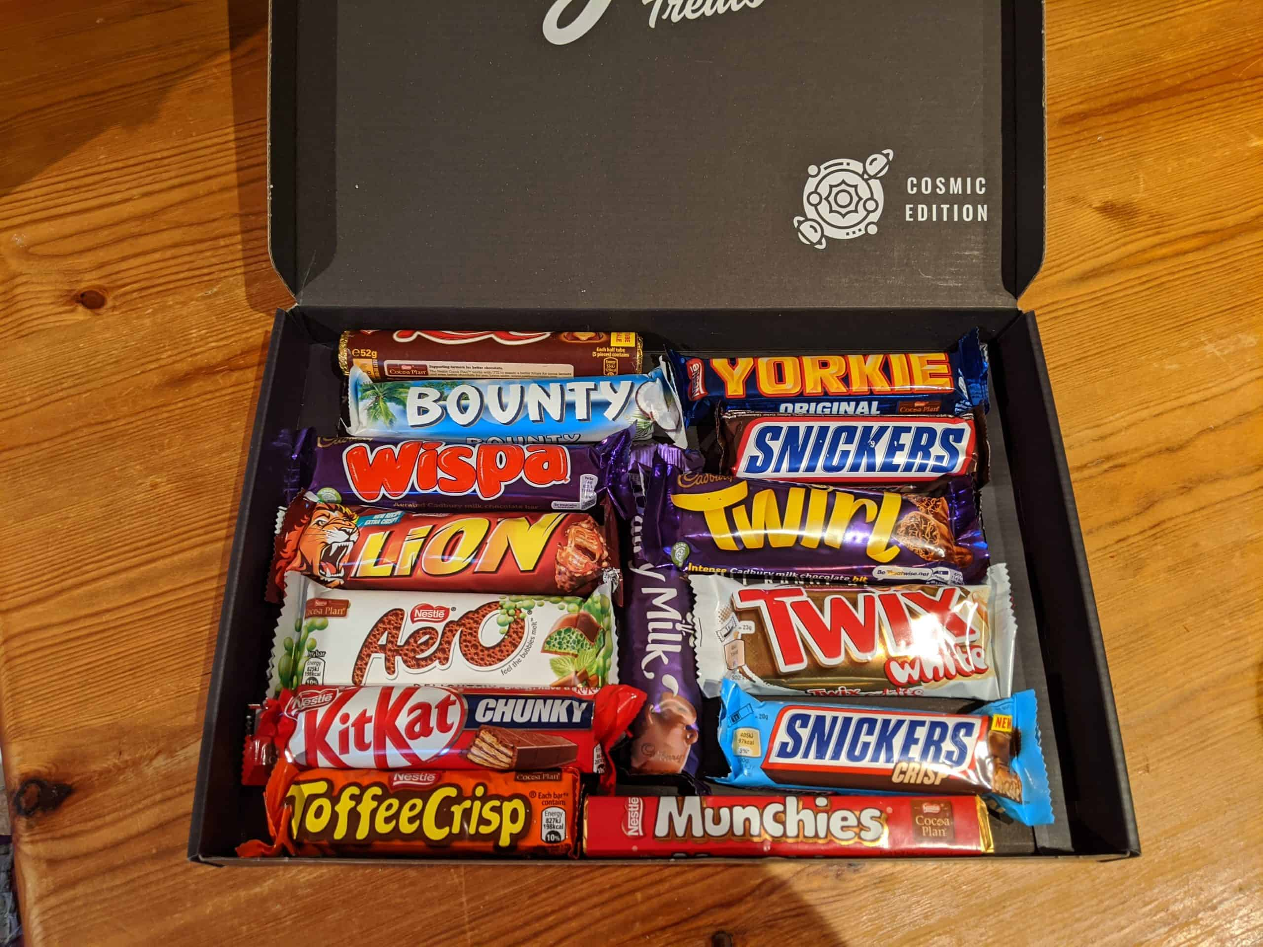 Clean as a whistle cleaning company - box of chocolates (open)