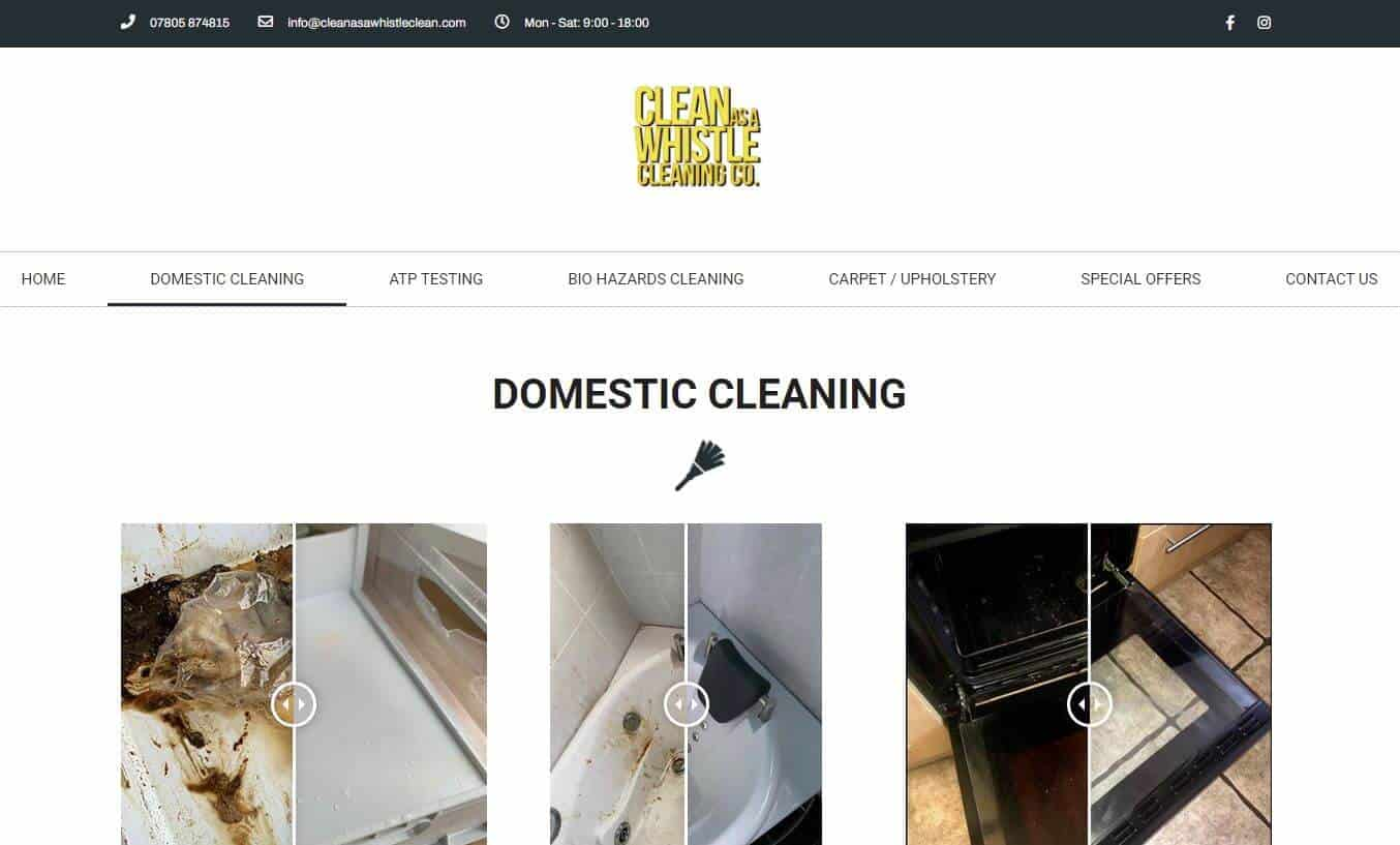 Clean as a whistle website
