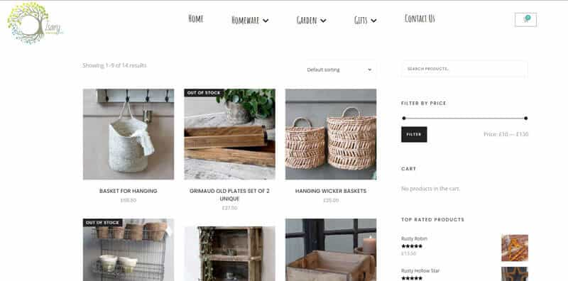 Isary e-Commerce site