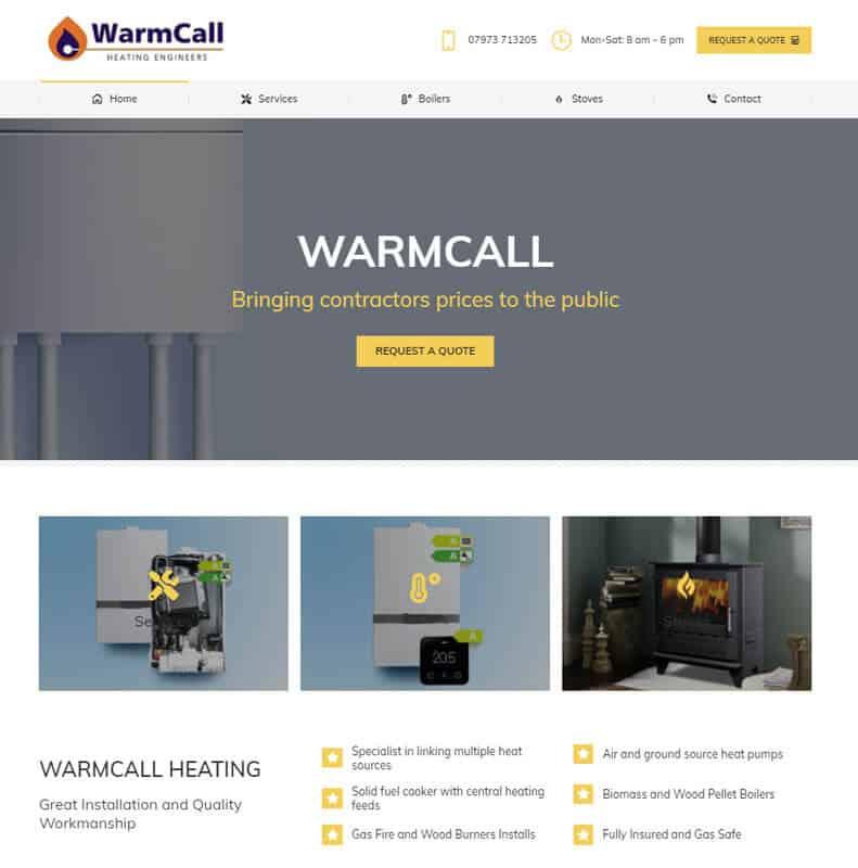Warmcall Website